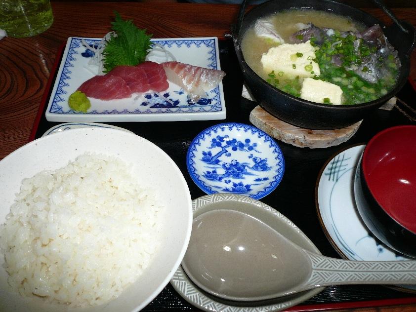 人気メニュー!魚のあら汁定食!